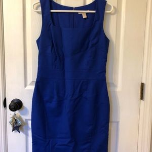 Banana Republic royal blue shift dress